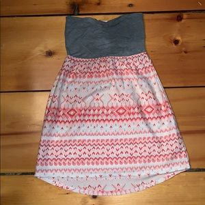 Roxy xs strapless dress